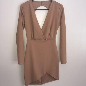 Forever 21 Mauve/Dark Tan/Brown Mini Dress